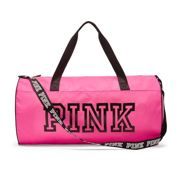 614ea3c39585 VS PINK weekender duffle bag hot pink
